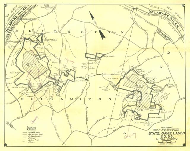 Old State Gamelands Map - Nockamixon