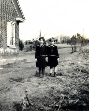 Blanche & Doris Shick at Center Hill School
